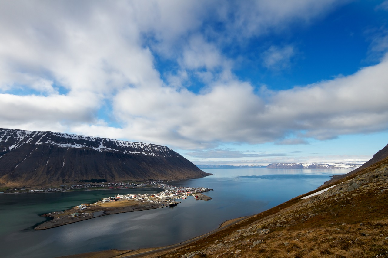 Isafjordur town, West Fjords in Iceland