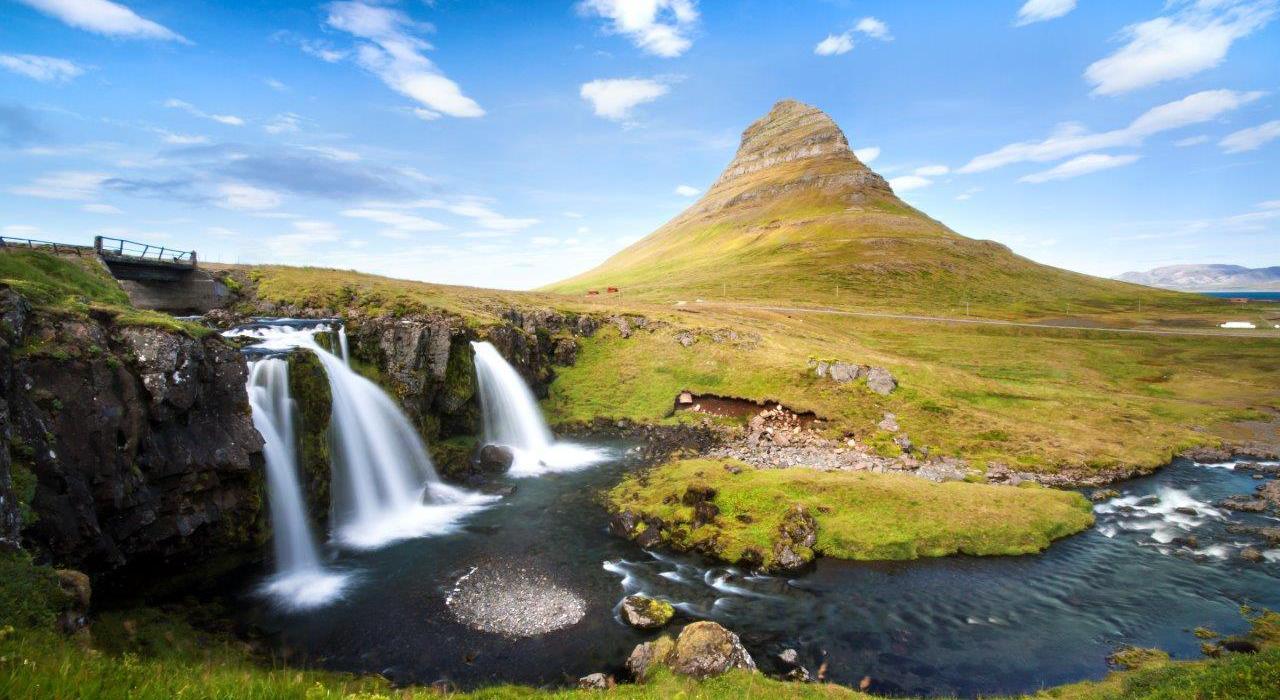 Kirkjufell and Kirkjufellsfoss, Iceland
