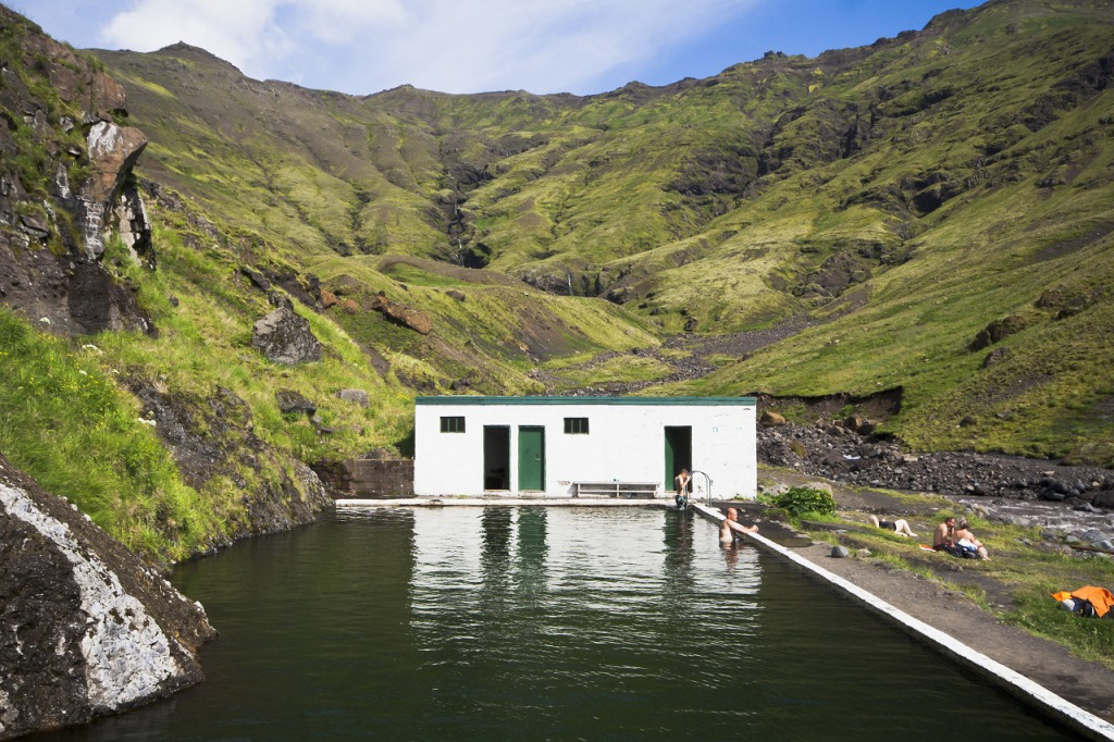 Seljavallalaug geothermal swimming pool in Iceland