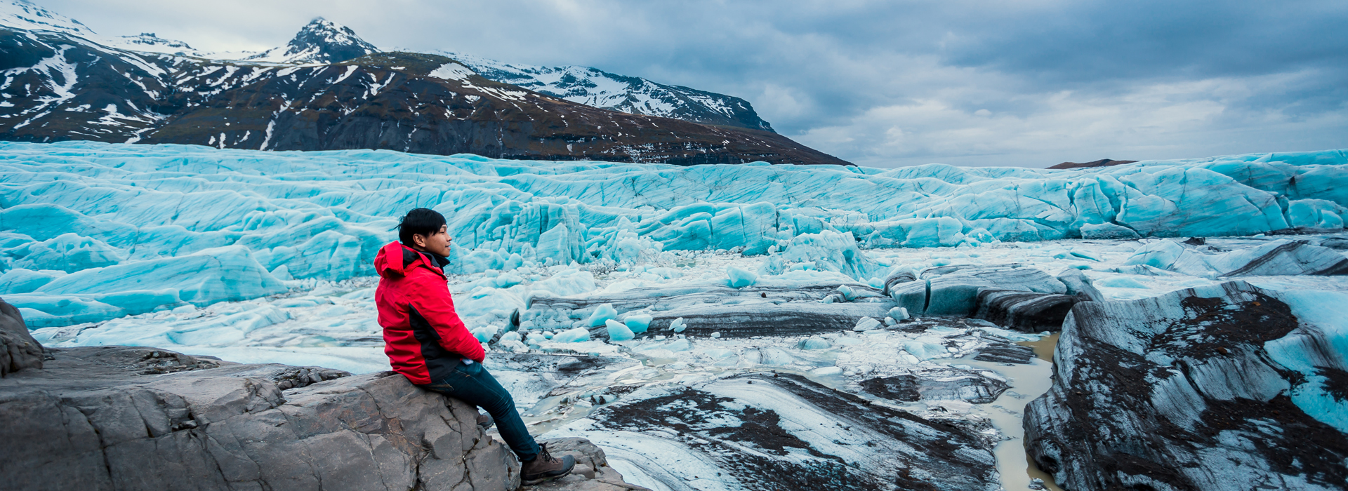 Vatnajokull glacier, the largest ice cap in Iceland