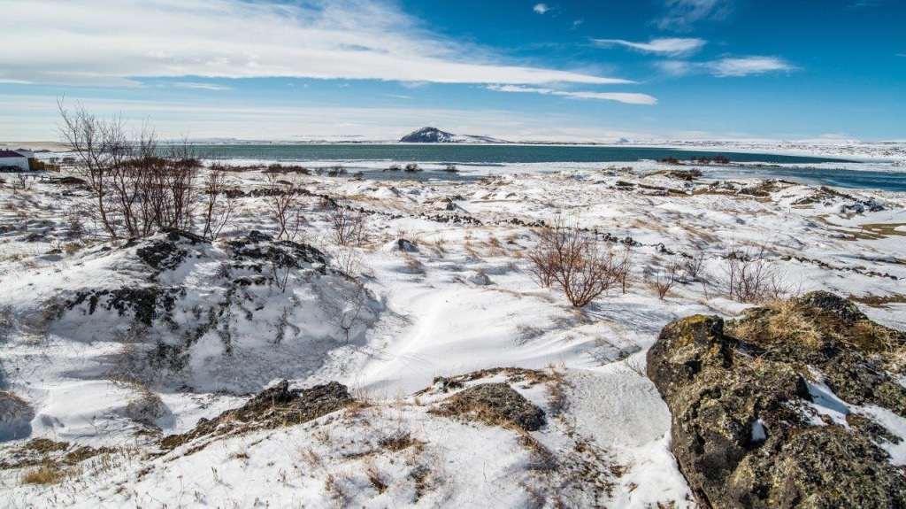 Winter landscape, Myvatn, Iceland