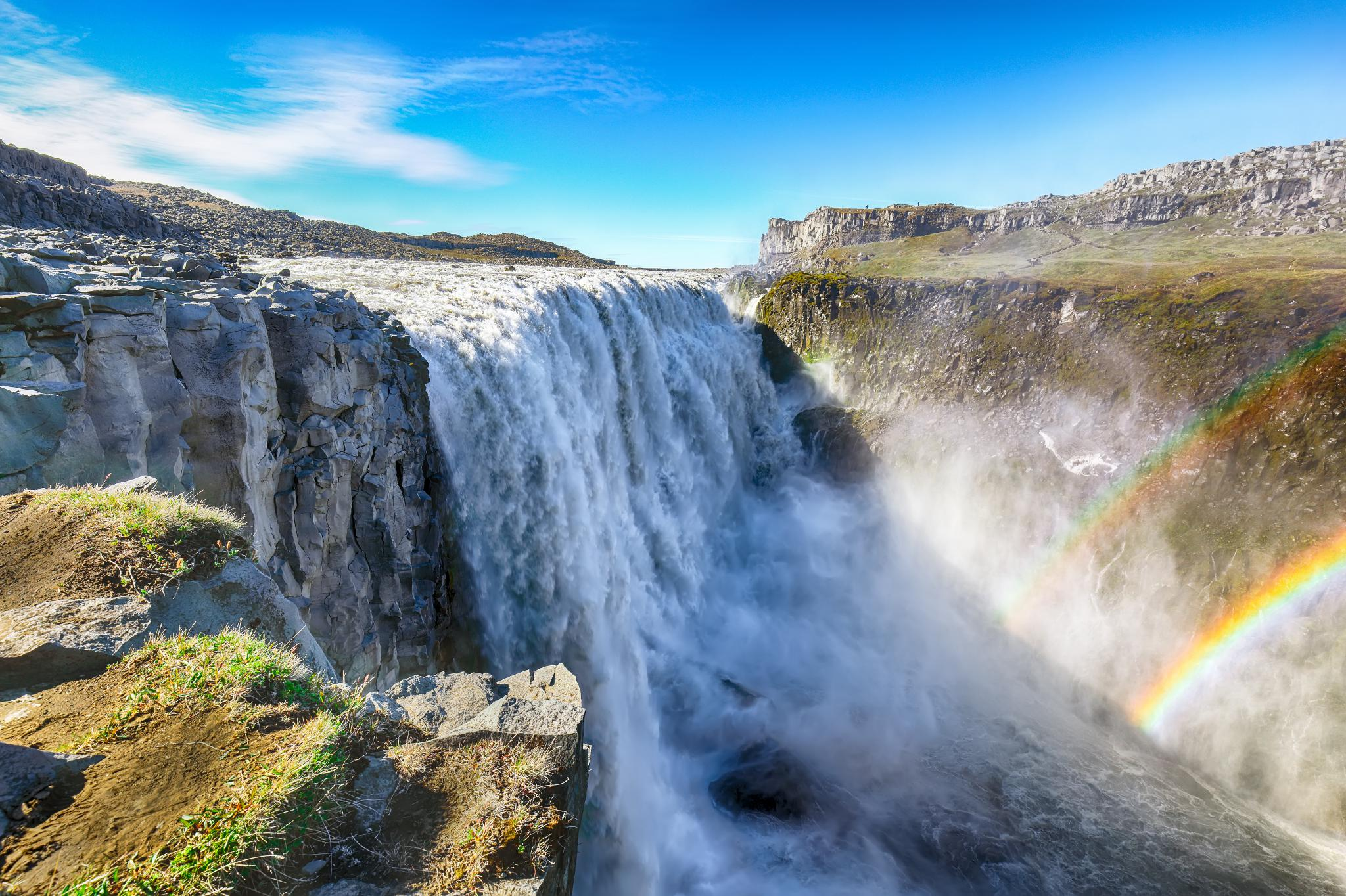 The most powerful waterfall in Europe called Dettifoss