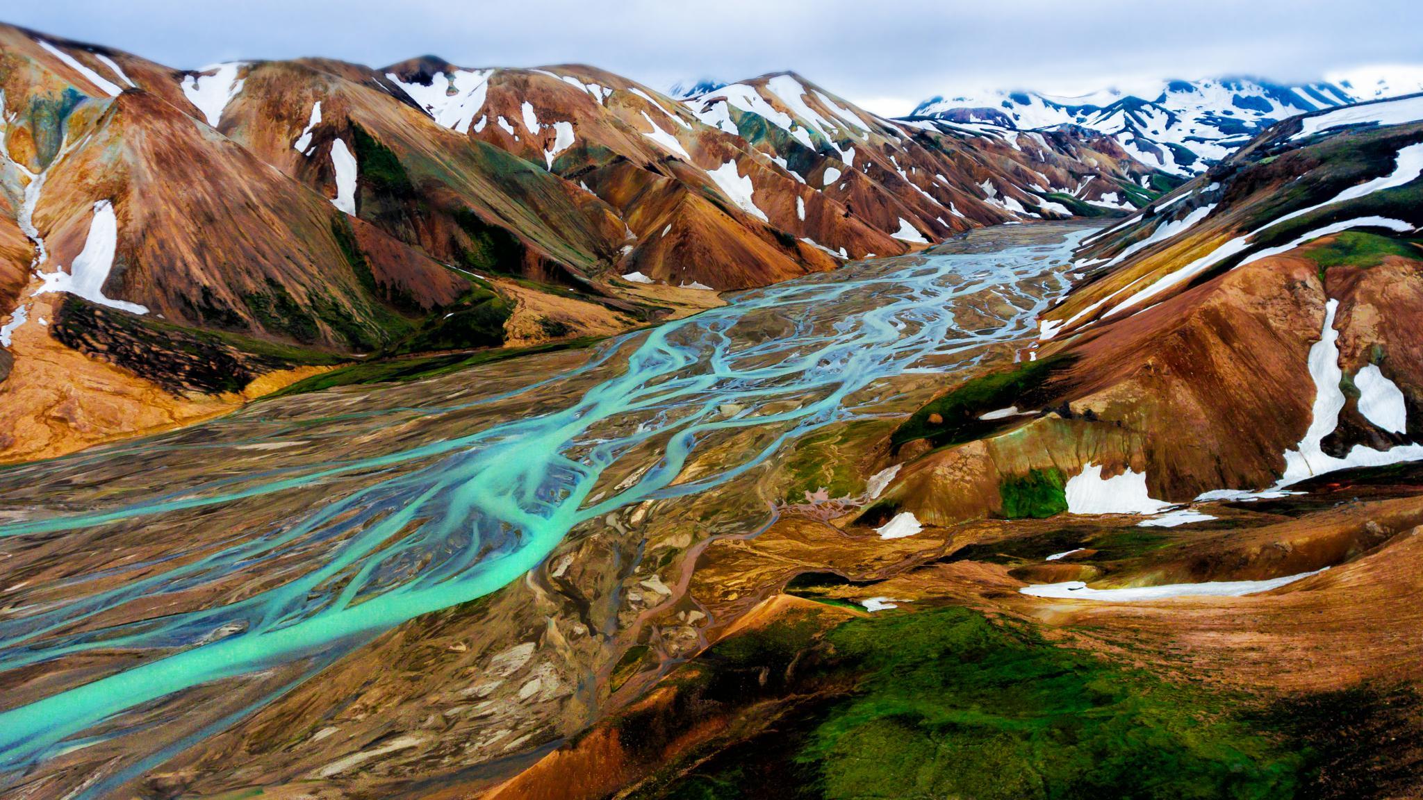 Highland landscape of Landmannalaugar, Iceland