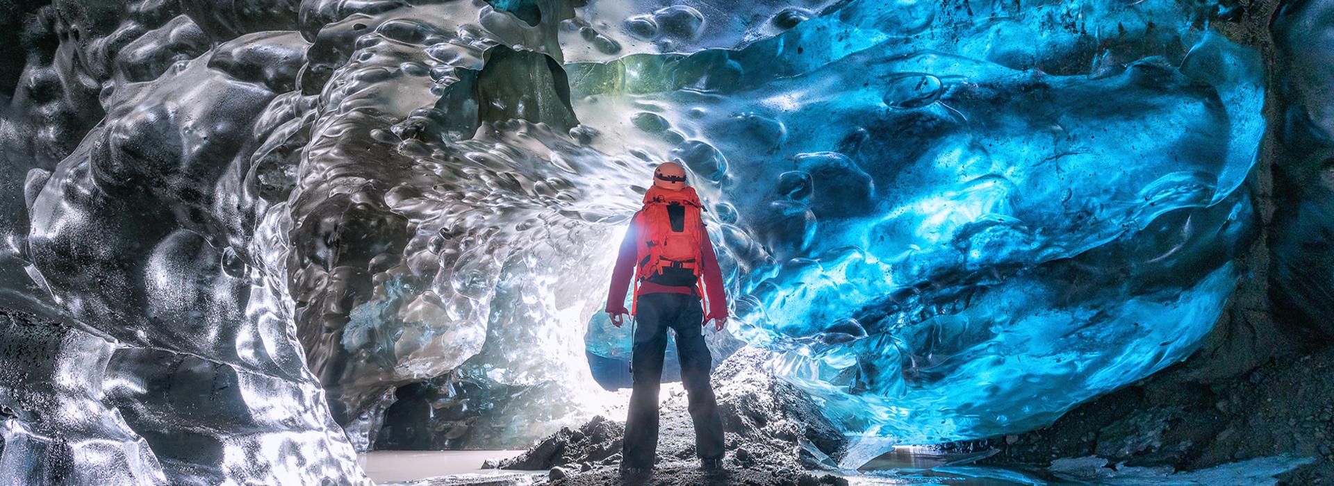 Ice cave in Vatnajokull glacier