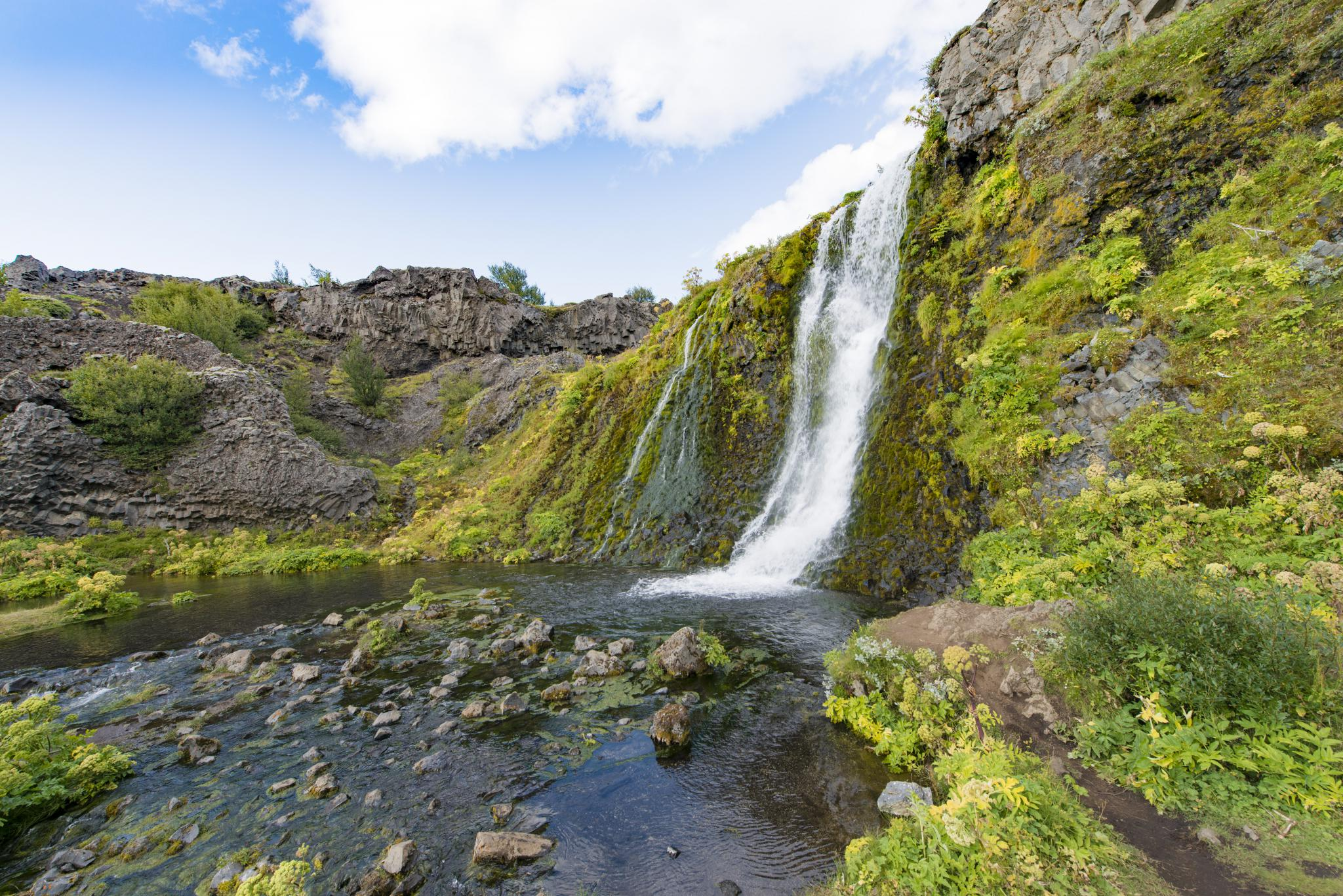 Þjórsárdalur Valley, Gjáin, Iceland, seen during the summer