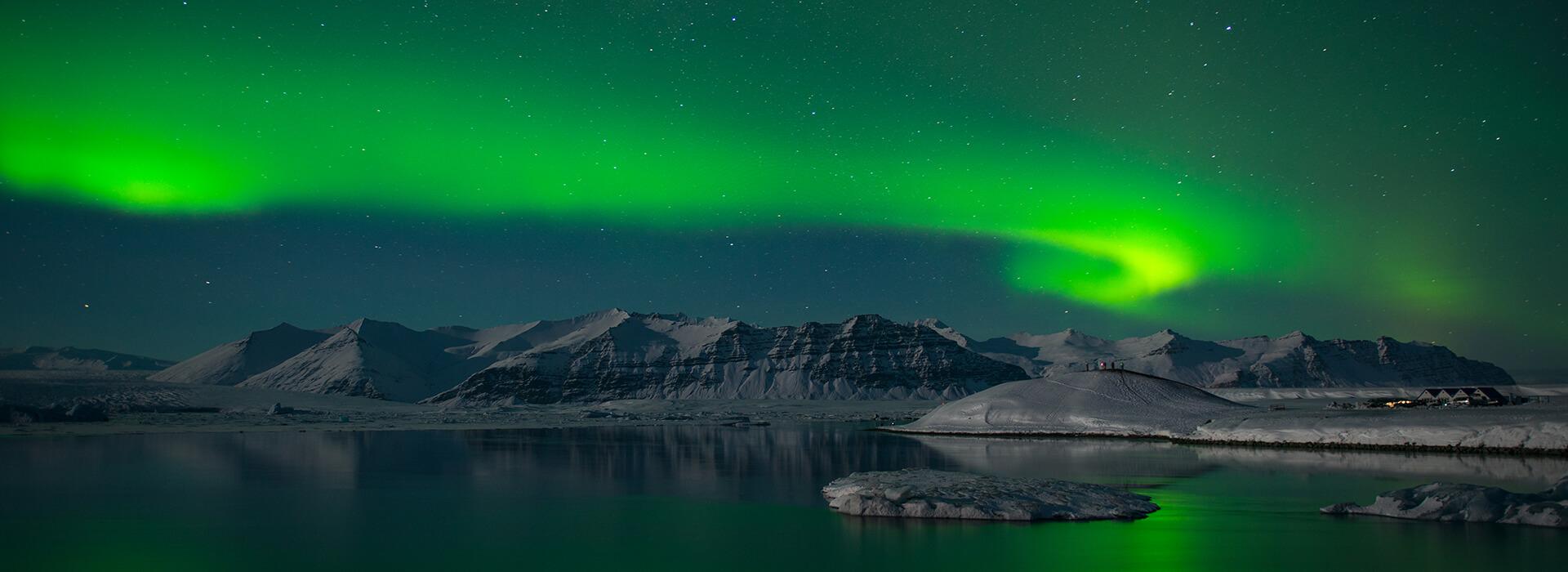 Jokulsarlon Northern Lights, Iceland