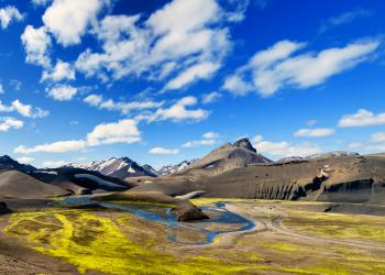 Landscape in the highlands of Iceland on the way to Landmannalaugar