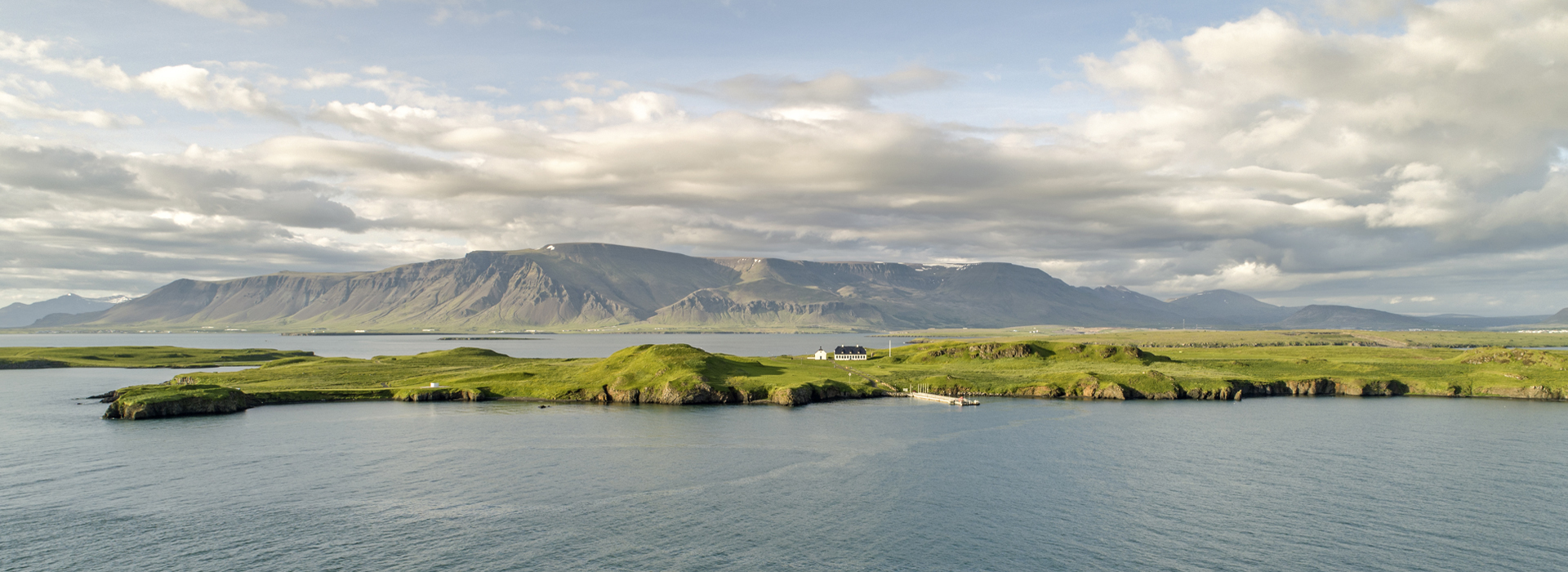 Videy island with Esja mountain in background